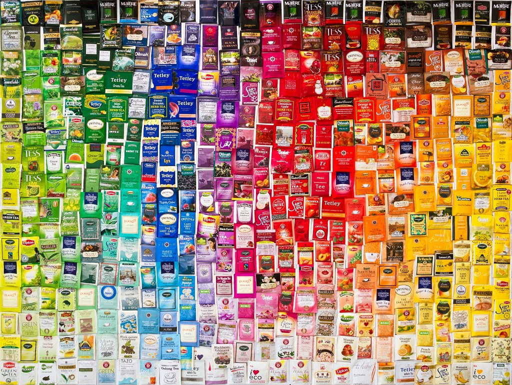 Teepakkide kollektsioon